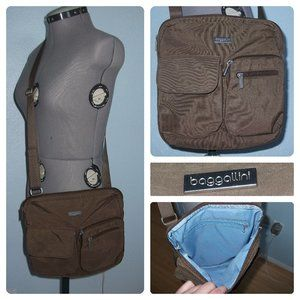 Baggallini Brown Crossbody Bag Purse Lightweight